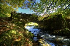 Robbers Bridge, Exmoor, UK, via Flickr.