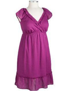 Women's Plus Ruffled Linen-Blend Dresses