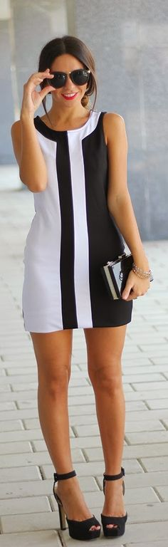 Black & White Classic Street Chic | Summer Outfits...
