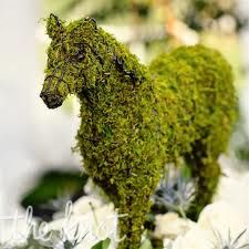 kind of want to take a carosel horse miniature and cover it entirely with dried moss to make a faux topiary
