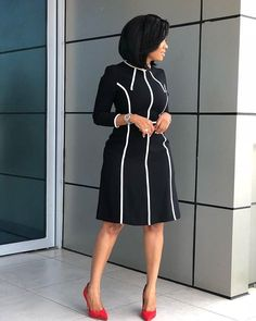 50 African Office outfits to try on - Ankara Lovers Corporate Wear, Corporate Outfits, Corporate Fashion, Business Casual Attire, Corporate Attire Women, Classy Work Outfits, Office Outfits Women, Classy Dress, Stylish Outfits