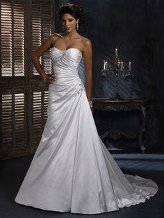 Agatha-Vestido de Noiva em Cetim tecido elástico - dresseshop.pt