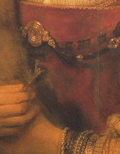 Rembrandt's Brushstrokes Series  Detail of Saskia's bodice and jewels