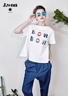 J.WON London SS16 Back-Bowed 'Lolita' Top Slouchy 'Lolita' trousers