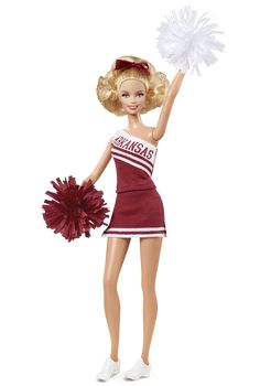 I want one for Christmas!!  University Of Arkansas Barbie® Doll | Barbie Collector