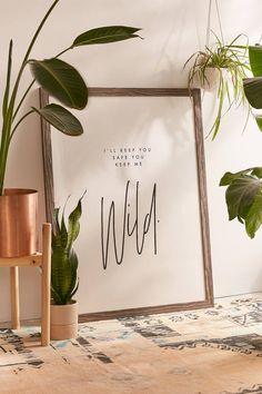 Honeymoon Hotel Keep Me Wild Art Print | Urban Outfitters
