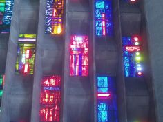 Baptistry Window, Coventry Cathedral by Aidan McRae Thomson, via Flickr  Glass by John Piper. Modern Stained Glass, Stained Glass Designs, Stained Glass Art, Coventry Cathedral, Anglican Cathedral, John Piper, Glass Installation, Coloured Glass, Royal College Of Art