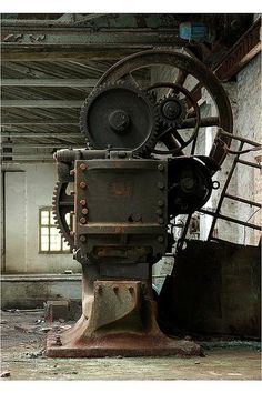 Photo credit: © mika@urbex Abandoned Buildings, Abandoned Places, Abandoned Factory, Industrial Architecture, Historic Architecture, Industrial Machinery, Old Factory, Industrial Photography, Ex Machina