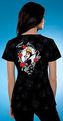 Scrubs - Cherokee Tooniforms 100% Cotton Forever Snow White Scrub Top | Lydias Scrubs and Nursing Uniforms