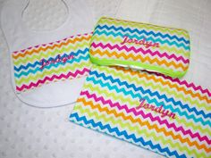 Personalized Chevron 3 Piece Gift Set  by grinsandgigglesbaby1, $25.00