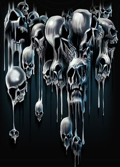 Skulls. Another pic that would be spooky-cool under blacklight.