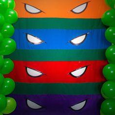 Painel em Tecido para festa de Aniversário com Tema Tartarugas Ninjas…
