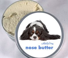 Here is the TRi-Color label! Cavalier King Charles Spaniel Dog Nose Butter 1 by TheBlissfulDog, $6.50