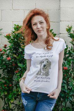 T-shirt / camiseta feminina estampa Golden Retriever www.petlikers.com.br
