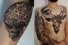 Amazing Tattoos by Gregorio Marangoni Tattoo Videos, Tattoos Gallery, Freelance Graphic Design, Tattoo You, Body Tattoos, Tattoo Inspiration, Body Art, Cool Photos, Skull