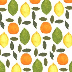 Citrus pattern. #fruit #pattern