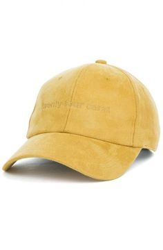 The Suede Tonal Dad Cap in Mustard Yellow 794b64da5e78