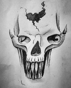 Skull Pencil on paper