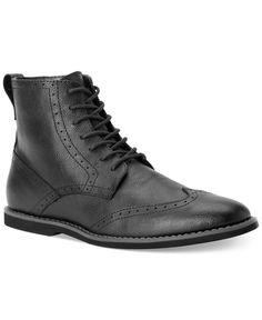 67393082e0d694 Calvin Klein Fields Wing-Tip Boots Men - All Men s Shoes - Macy s