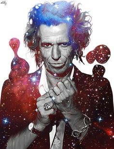 """""""You have the sun, you have the moon…and you've got The Rolling Stones""""—Keith Richards. by Nicky Barkla Artist: Tumblr / Faceb..."""