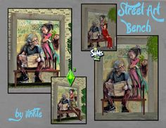 SIMS2: Street Art Bench - Downloads - BPS Community-this is really cute!