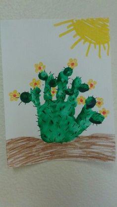 "Handprint cactus - ""Stuck on you"" K Crafts, Daycare Crafts, Classroom Crafts, Baby Crafts, Crafts To Do, Crafts For Kids, Kindergarten Art, Craft Activities For Kids, Preschool Crafts"