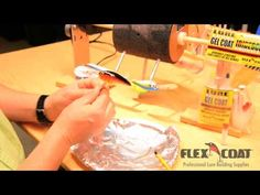 Working with Lure Epoxy Gel Coat and Iridescent Crystals - YouTube