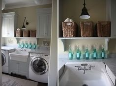 Like this Laundry Room. I would love to have a sink in my Laundry Room!