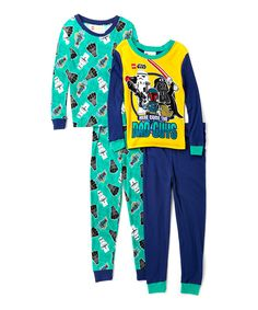 Look at this Blue LEGO Star Wars Four-Piece Glow in the Dark Pajama Set - Boys on #zulily today!