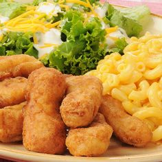 This deep fried chicken finger recipe is going to be considered one of those meals that is a real treat.  Serve it with macaroni and cheese and a green salad and watch everything disappear off the plates!