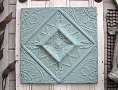 Tin ceiling tile Antique architectural salvage by DriveInService