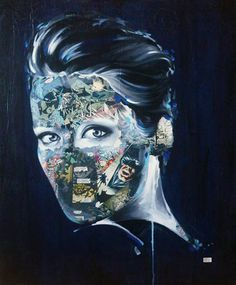 Classic Comics as Tattoos - The Paintings of Sandra Chevrier Collage Portrait, Portraits, Collages, Sandra Chevrier, Comic Tattoo, Inked Magazine, Classic Comics, Pixel Art, Painting & Drawing