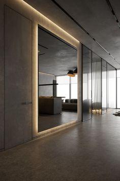 Gym Interior, Modern Interior, Home Interior Design, Interior Architecture, Home Gym Design, Modern House Design, Flur Design, Dark Interiors, House Entrance