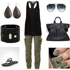 Para este verano una prenda que siempre tienes que tener en tu armario es una en color verde militar, ya seas shorts, vestido, falda, pantalones capris, pantalon, blusas, es un color que se vera muy bien en esas salidas casuales y para mi gusto se ve muy bien combinado con negro, blanco, caqui, jeans, les dejo una galeria con outfits casuales.