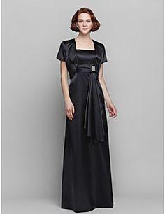 Formal Evening/Prom/Military Ball Dress Sheath/Column Spaghetti Straps Floor-length Stretch Satin Dress