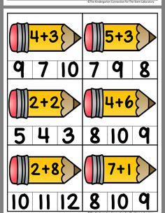 Kindergarten Math Worksheets, Preschool Education, Preschool Math, Math Activities, Math For Kids, Fun Math, English Worksheets For Kids, Math Addition, Simple Math