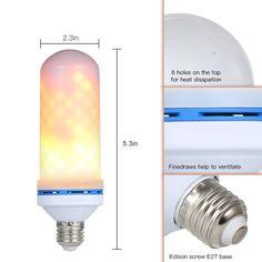 E27 LED 6W Ampoule flamme feu effet