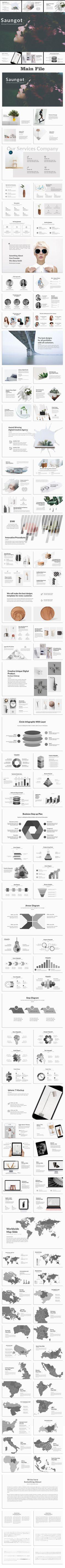 Saungot Minimal #PowerPoint Template - Creative PowerPoint #Templates Download here: https://graphicriver.net/item/saungot-minimal-powerpoint-template/20332974?ref=alena994