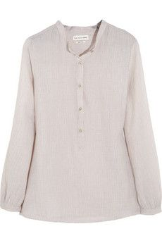 Étoile Isabel Marant Xana striped cotton shirt   THE OUTNET