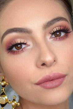 Makeup Eye Looks, Eye Makeup Steps, Eye Makeup Art, Soft Makeup, Pink Makeup, Cute Makeup, Glam Makeup, Simple Makeup, Eyeshadow Makeup