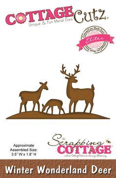 CottageCutz Winter Wonderland Deer (Elites)