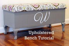 Family | Love | Home: Upholstered Bench