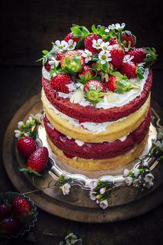 Red Velvet And Almond Cake