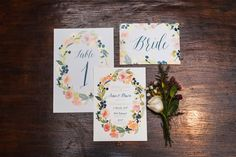 Floral wedding stationery suite // A Midsummer Night's Dream: Sean and Dawn's Wedding