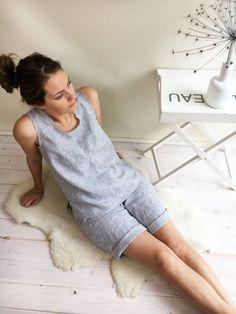 Rayé pyjama femme pyjama lin Short de pyjama femmes et haut