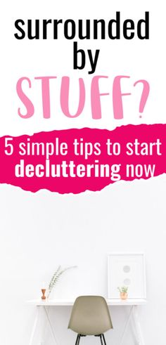 Simple decluttering tips to help you free up space, improve your happiness and get rid of those things you just don't need anymore. How To Make Something, Make You Feel, How Are You Feeling, Live Well For Less, Clutter Free Home, Desk Tidy, School Bags For Kids, Frugal Living Tips, Decluttering