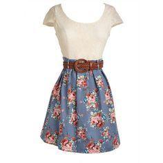 vestidos bonitos juveniles floreados - Buscar con Google