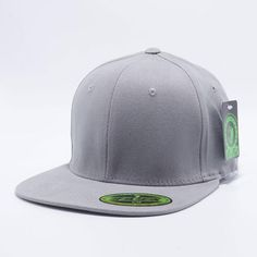 0d518e77416 Pit Bull Comfort Fit Flat Fitted Hats Wholesale  L.Grey