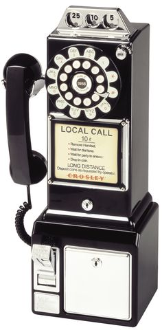 I remember this type of pay phone, only back then local calls were 10 cents.