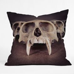 Buy Outdoor Throw Pillow with Theories Of Early Man designed by Ballack Art House. One of many amazing home décor accessories items available at Deny Designs. Men Design, Outdoor Throw Pillows, Home Decor Accessories, Home Art, Home Goods, Interior Decorating, Skull, House Design, Festive